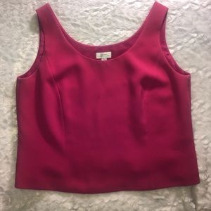 Tahari pink sleeveless top